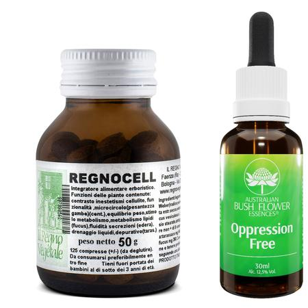 Kit ANTI-CELLULITE Regnocell + Oppression Free Gocce